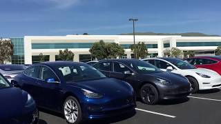 "Tesla's ""Secret"" Off-Site Model 3 Parking Lot Porn Video"