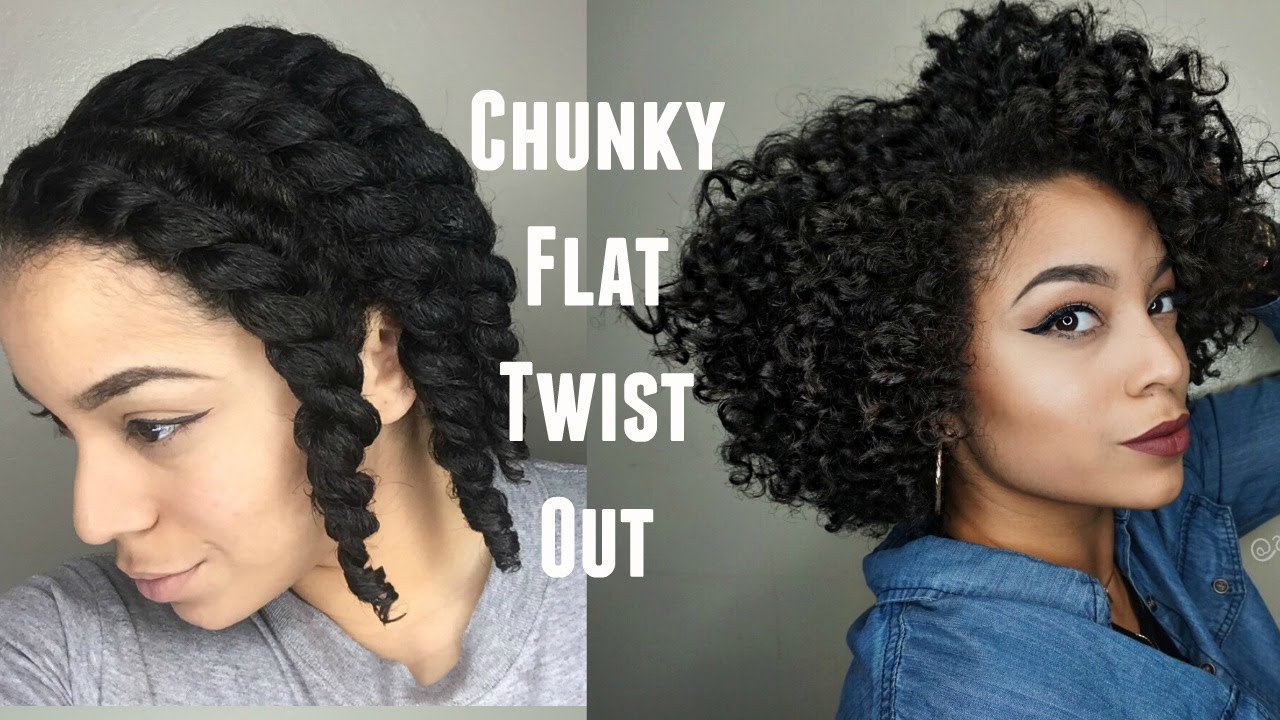 Defined Flat Twist Out On Short/Medium Hair