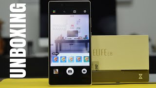 Gionee Elife E8 Smartphone Unboxing - Indian Retail Unit