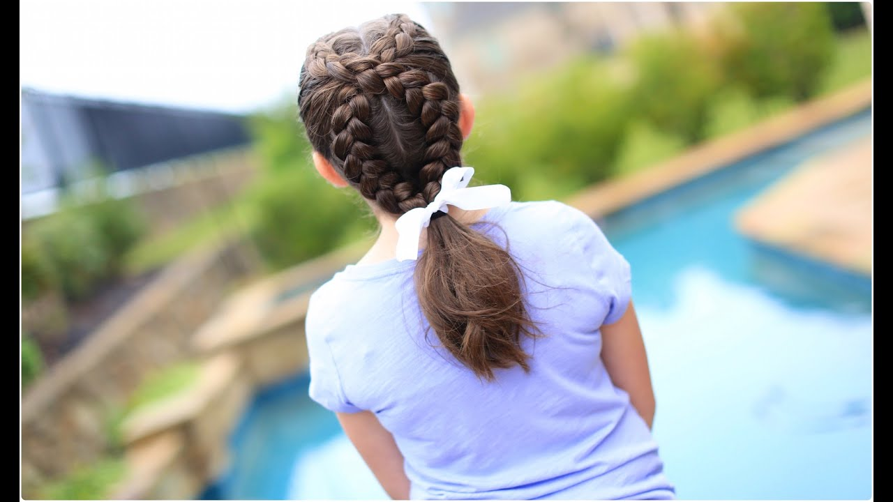Hairstyles With Dutch Braids: Cute Girls Hairstyles - YouTube