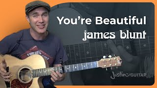 You're Beautiful - James Blunt (Easy Songs Beginner Guitar Lesson BS-991) How to play