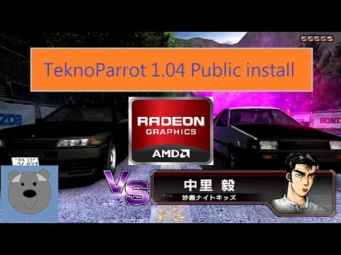 Initial D Arcade Stage 6 AA/TeknoParrot 1 04 installation [AMD not clear  details version]