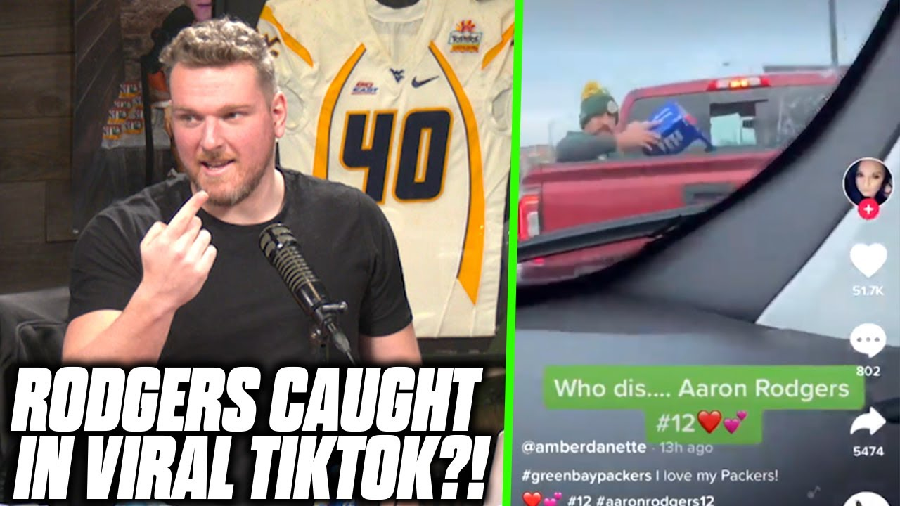 Download Pat McAfee Reacts To HILARIOUS TikTok Of Aaron Rodgers In Truck Bed