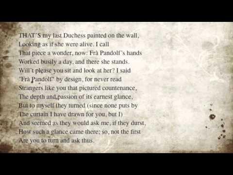 Revise 'My Last Duchess Ferrara' by Robert Browning