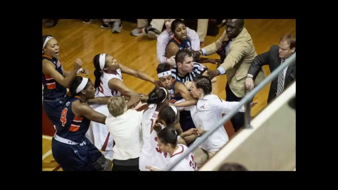Basketball brawl erupts during Alabama-Auburn women's ...