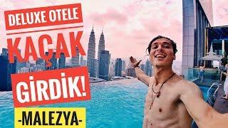 MALEZYA'DA LÜKS OTELE KAÇAK GİRDİK! | Sonsuzluk Havuzunda Yüzdük - Vlog#4