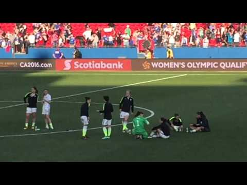 Post-game: USWNT v. Mexico, CONCACAF 2016 Olympic Qualifier, Frisco, TX