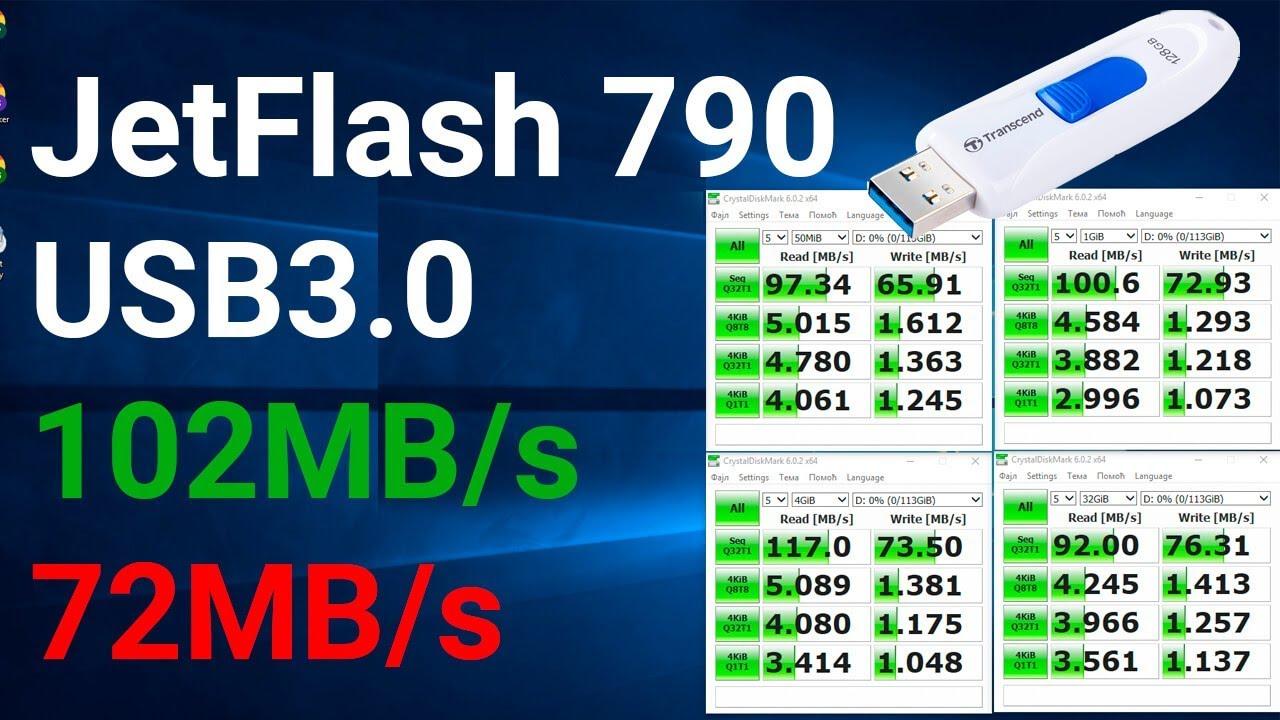 Как правильно выбрать USB флешку Transcend JetFlash 790 USB 3.1 128GB