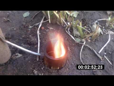 Печь на отработке с капельной подачей
