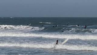 만리포 서핑 스케치, 파도 들어오다.