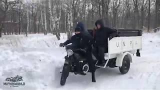 Moto Guzzi E.R. Test-drive on the snow.