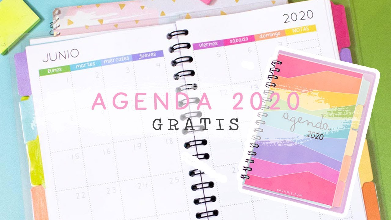 Agenda 2020 Diy Descargala Gratis Pdf Haz Tu Propia Agenda Sayil Diy Youtube