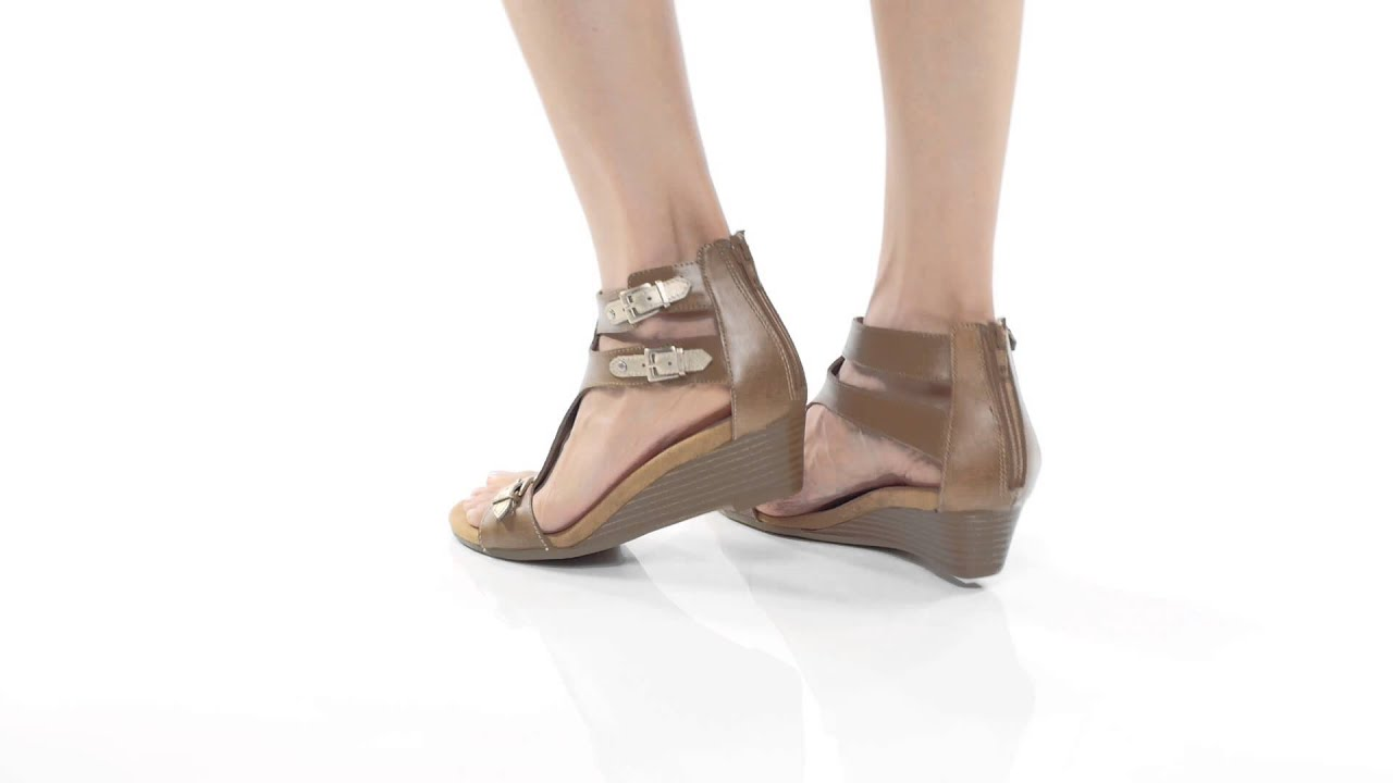 05dbc66dd2e8 Aerosoles Yet Another Wedge Sandals - YouTube