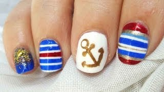 Reto ABC uñas A de ANCLA / ABC nail challenge A for ANCHOR