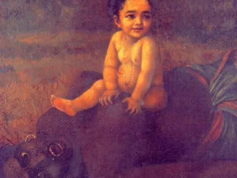 Putana Moksha by Raja Ravi Varma