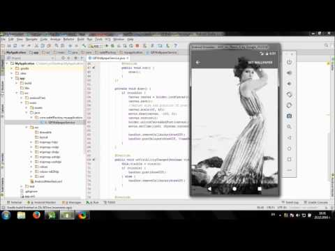 Develop Simple Live Wallpaper In Android Studio