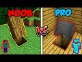 Minecraft NOOB vs. PRO: BASE ENTRANCE! | AVM Shorts Animation