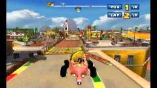 Sonic & Sega All-Stars Racing - Jump Parade Single Race with Amigo