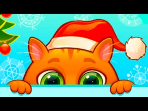 КОТЕНОК БУБУ #44 - НОВОГОДНЕЕ обновление - Виртуальный Котик мультик игра видео для детей #ПУРУМЧАТА