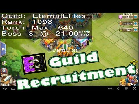 Castle Clash-Guild Recruitment For EternalElites(Ranked 1098)