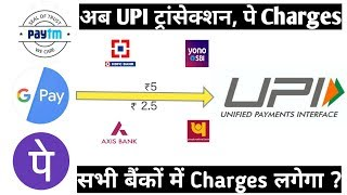 UPI Transection Charge | Bank Charge on UPI Transection | UPI payment Charge