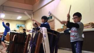 山木屋太鼓 練習風景 その2 (2013/11/29 夜)