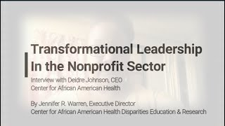 Transformational Leadership in the Health Nonprofit Sector