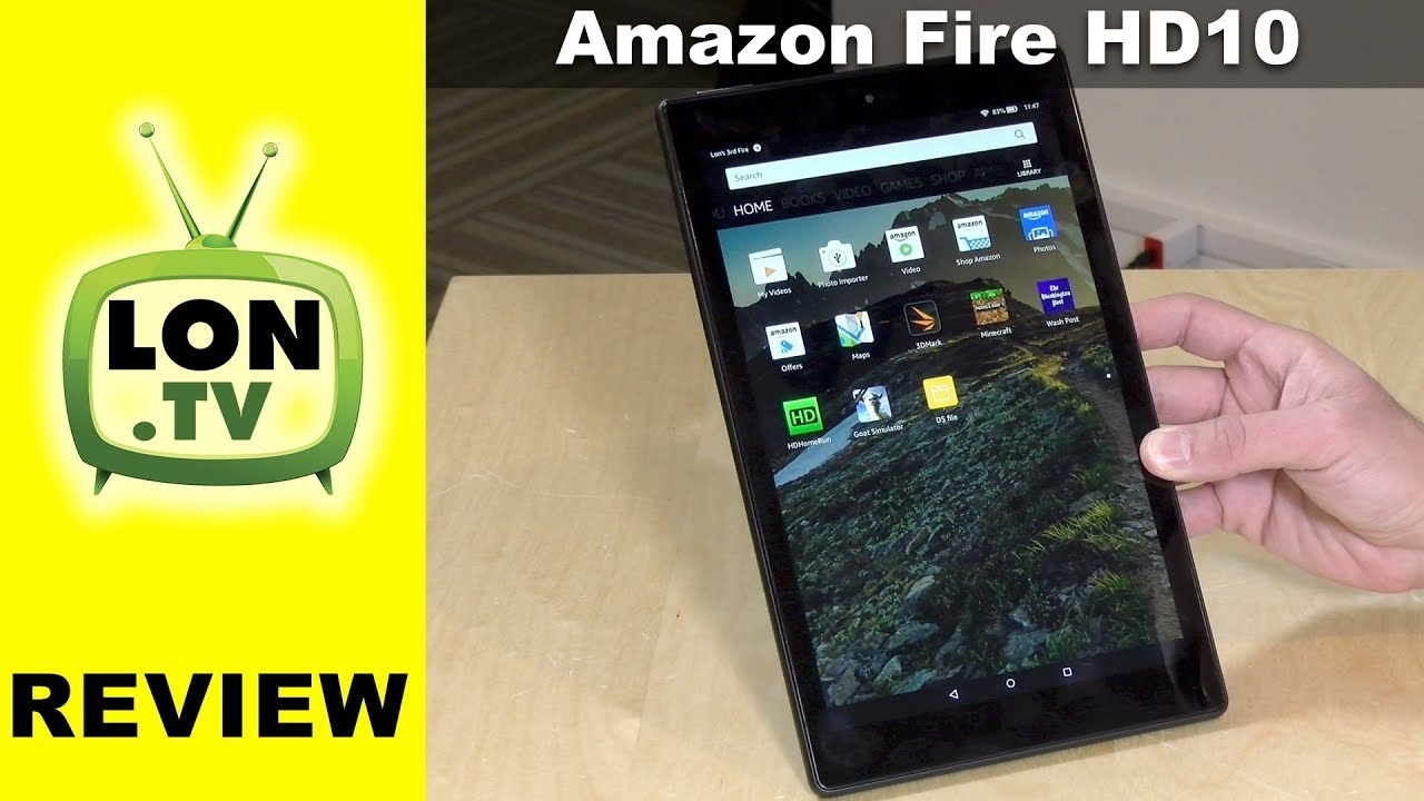 New Fire HD 10 Tablet Review (2017 / 2018) $149 with Alexa Hands-Free Voice  Commands