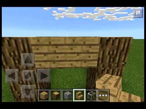 Como hacer una mini caba a en minecraft pe youtube - Como construir una cabana ...