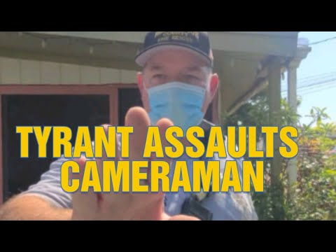 FAIL!!! TYRANT LOSSES IT MAKES THREATS OF ARREST ON A WOMAN! GRABS CAMERA AND REFUSE TO ID