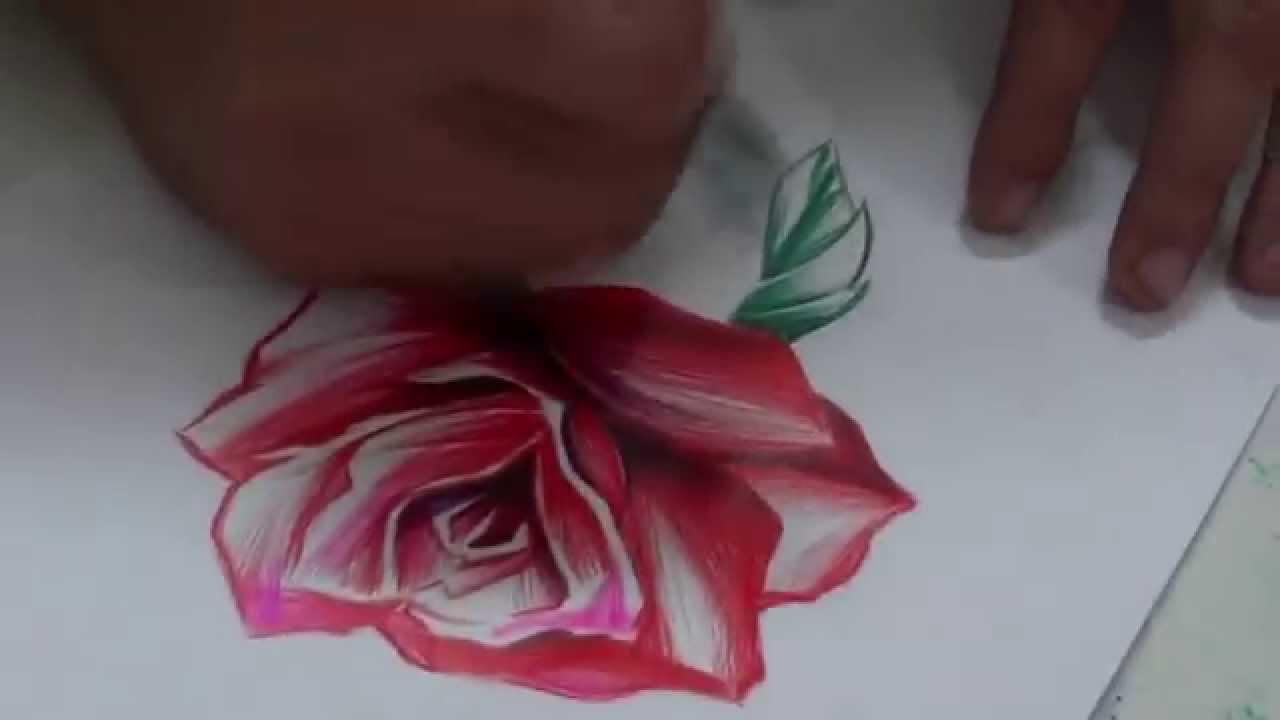 Desenho Feito Caneta Rosa Arte Local Tattoo Youtube