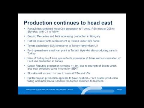 European Car and Light Commercial Vehicle Production Outlook video - June 2015