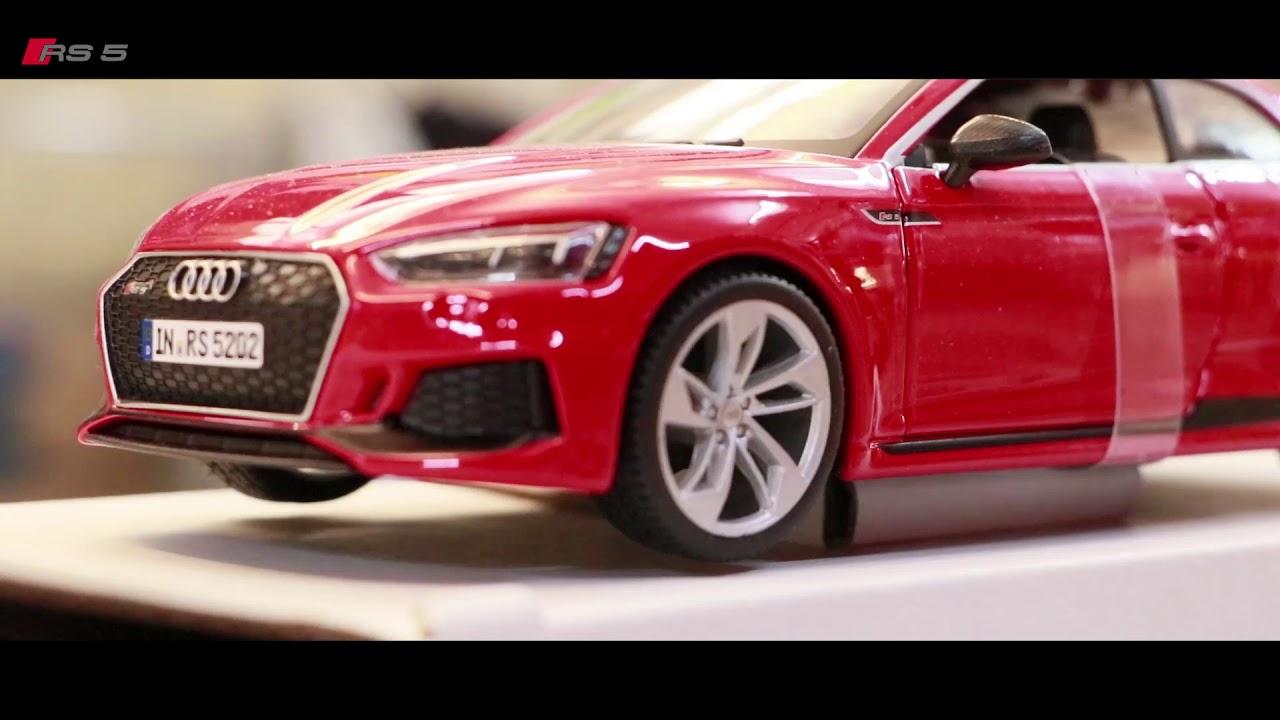 Audi RS 5 Coupe rot Modellauto 1:24 Burago