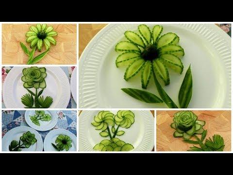 3 Desain Bunga Mentimun Sederhana - Ukiran Buah & Sayur - Potong Hiasan