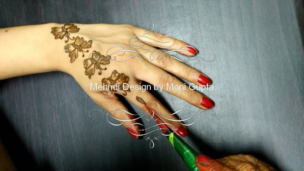 Butterfly Mehndi Design Simple And Easy To Learn Youtube