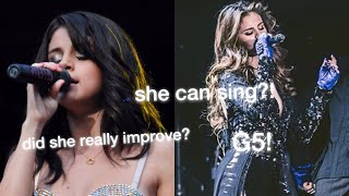 Selena Gomez's Singing Then VS Now