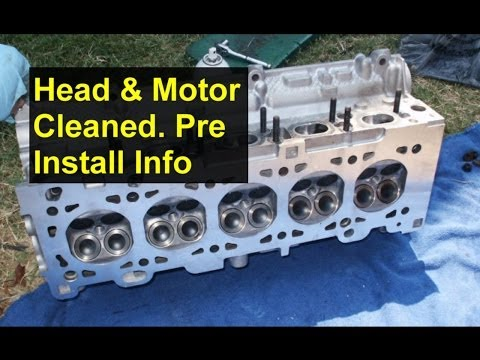 Engine cylinder head removed, cleaning and pre-installation information