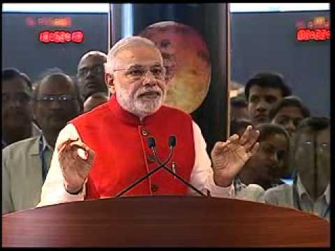PM Modi congratulates ISRO on its resounding 'Mangalyaan' success (Full Speech)