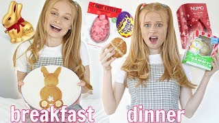 I ONLY ate EASTER FOOD for 24 HOURS!!! *i felt so sick*