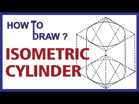 (Hindi) How to draw Isometric CYLINDER #Engineering Drawing