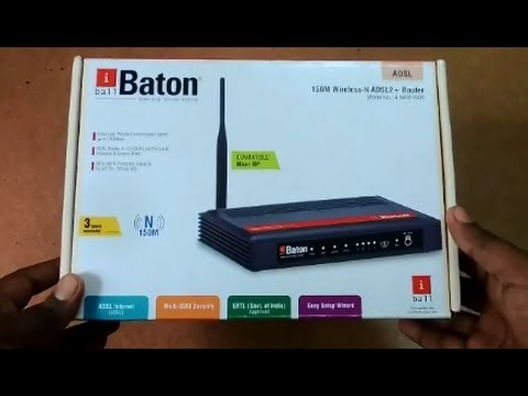 IBALL BATON 150M WIRELESS-N ADSL2 ROUTER DRIVERS FOR WINDOWS VISTA