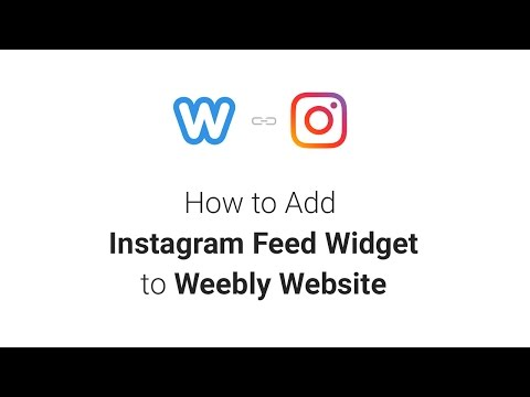 How to Add Instagram Feed Widget to Weebly Website (2018)