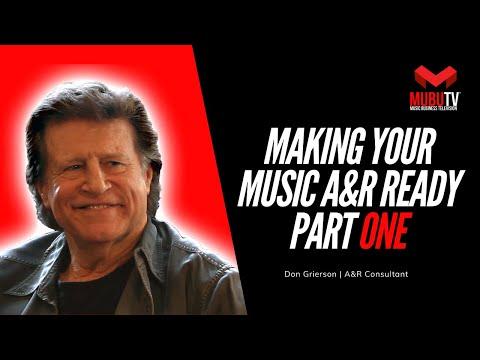 MUBUTV: Insider Video Series  Season 1 Episode 13 A&R Consultant Don Grierson Pt.1