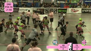 Roller Derby: WFTDA 2012 East Region Playoffs - London vs Montreal