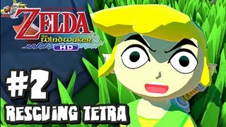 The Legend of Zelda Wind Waker HD Wii U - (2048p) Part 2 - Rescuing Tetra
