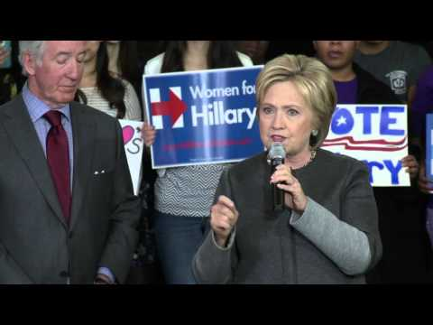 Hillary Clinton Rally in Springfield, MA