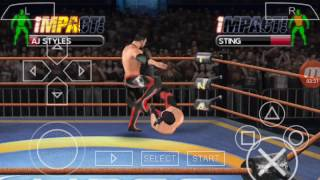 Tna impact cross the line psp gameplay