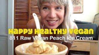Raw Vegan Peach Ice Cream Recipe