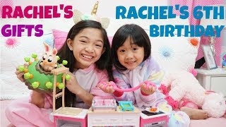 RACHEL'S 6th BIRTHDAY GIFTS from KAYCEE & FAMILY