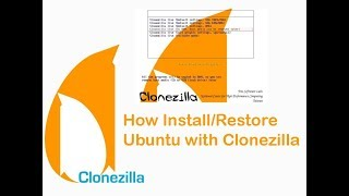 How to Install/Restore Ubuntu with Clonezilla